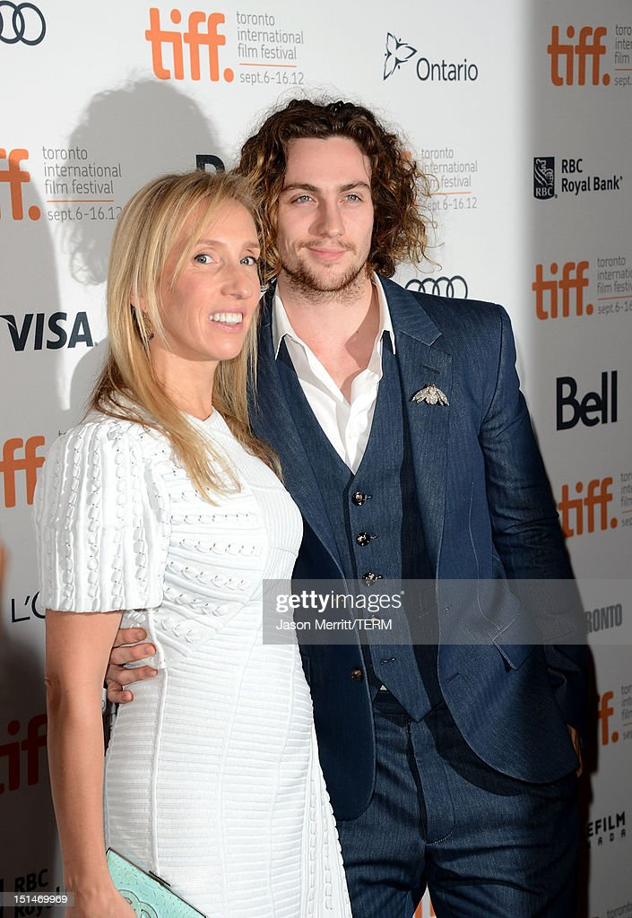 Director Sam Taylor-Wood and actor Aaron Taylor-Johnson attends the 'Anna Karenina' premiere during the 2012 Toronto International Film Festival at The Elgin on September 7, 2012 in Toronto, Canada.