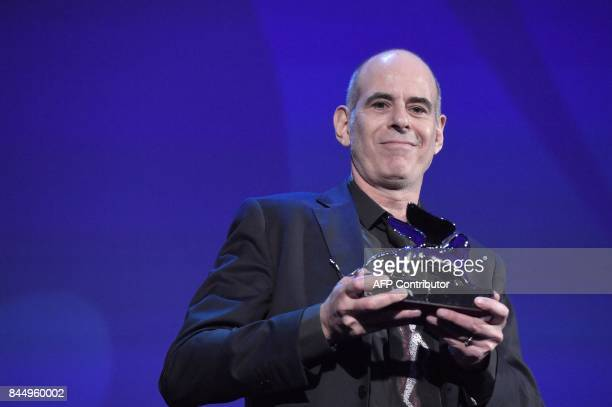 Director Samuel Maoz receives the Silver Lion Grand Jury Prize for his movie 'Foxtrot' during the award ceremony of the 74th Venice Film Festival on...