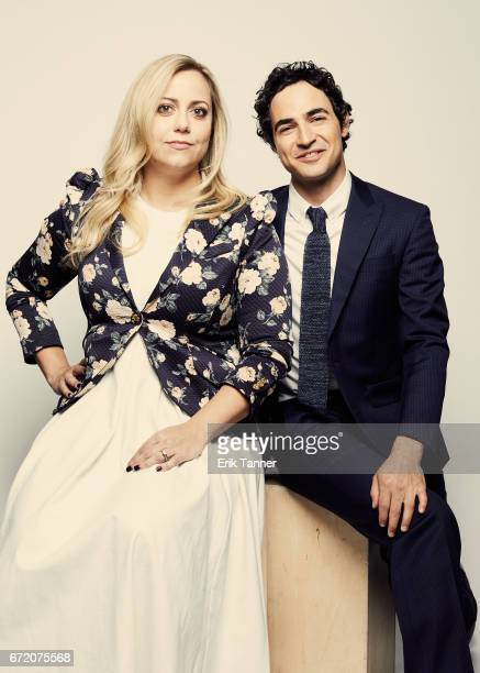 Director Sandy Chronopoulos and Zac Posen from 'House Of Z' pose at the 2017 Tribeca Film Festival portrait studio on April 23 2017 in New York City