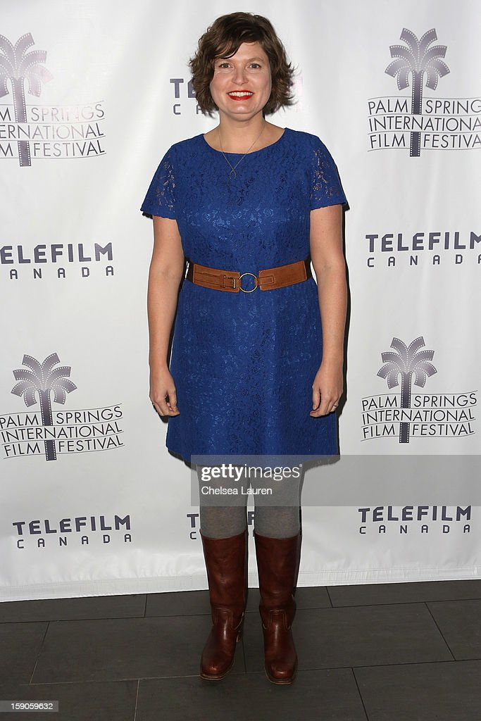 Director Sara St. Onge arrives at the Canadian film party at the 24th annual Palm Springs International Film Festival on January 6, 2013 in Palm Springs, California.