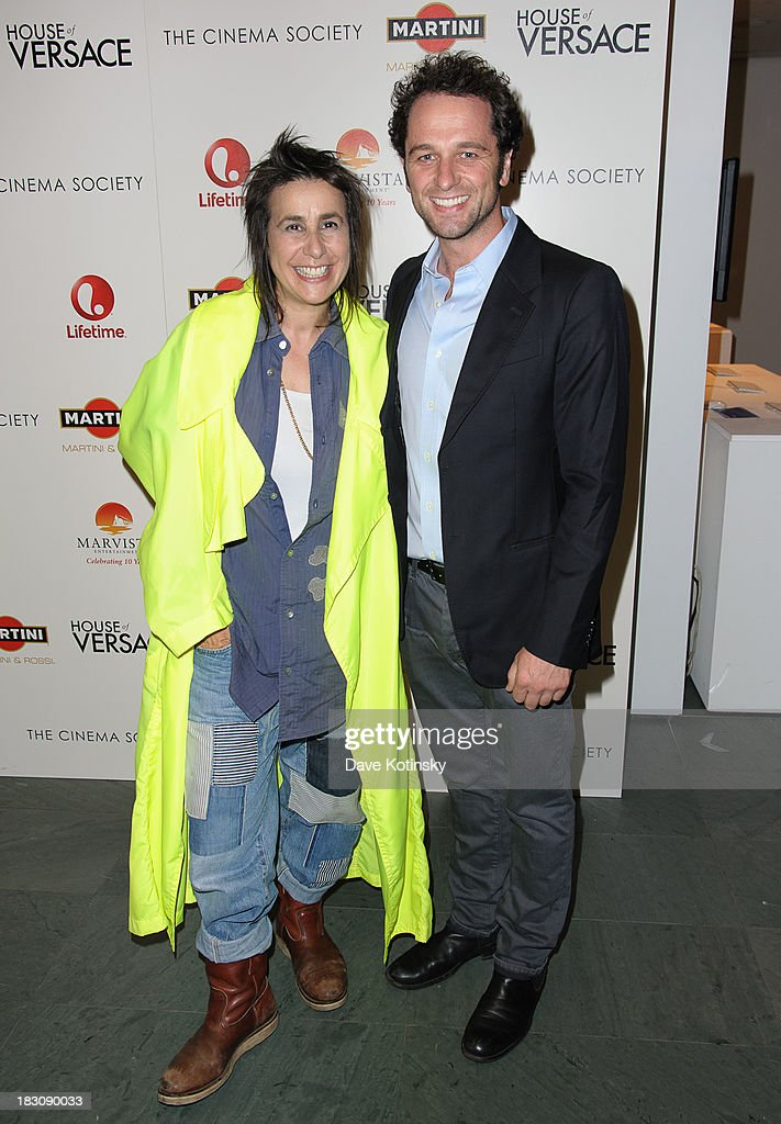Director Sara Sugarman (l) attends Marvista Entertainment And Lifetime With The Cinema Society Host A Screening Of 'House Of Versace' at MOMA on October 3, 2013 in New York City.