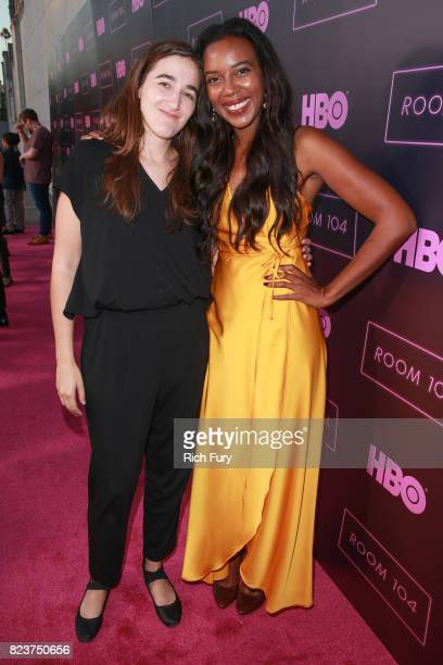 Director Sarah Adina Smith and actor Sameerah LuqmaanHarris attend the premiere Of HBO's 'Room 104' at Hollywood Forever on July 27 2017 in Hollywood...