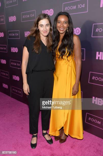 Director Sarah Adina Smith and actress Sameerah LuqmaanHarris attend the Los Angeles premiere for HBO's 'Room 104' at Hollywood Forever on July 27...