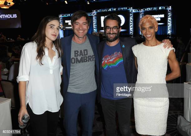 Director Sarah Adina Smith executive producers Mark Duplass Jay Duplass and director Marta Cunningham speak onstage during the HBO Summer TCA 2017 at...
