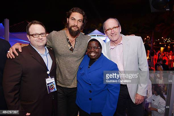 Director Sarasota Film Festival Tom Hall Actor Jason Momoa Sister Rosemary Nyirumbe and actor Richard Jenkins attend Cinema Tropicale during the...