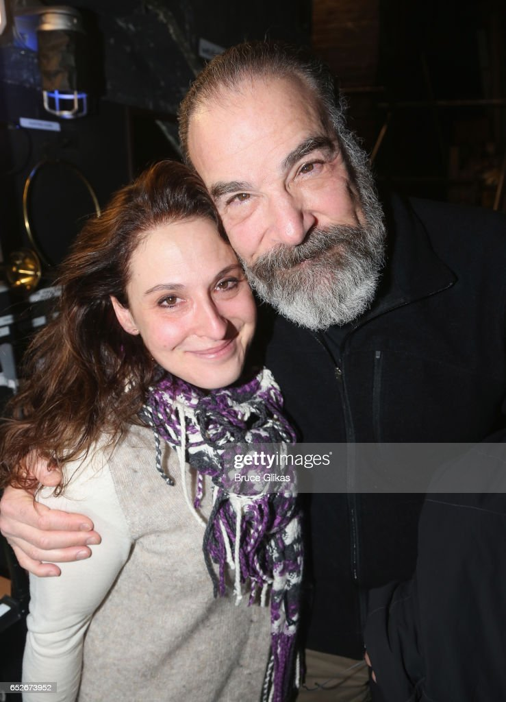 Director Sarna Lapine and Mandy Patinkin (who played the role of 'George' in the 1984 Original Production) pose backstage at the hit musical revival of 'Sunday in The Park with George' on Broadway at The Hudson Theatre on March 12, 2017 in New York City.