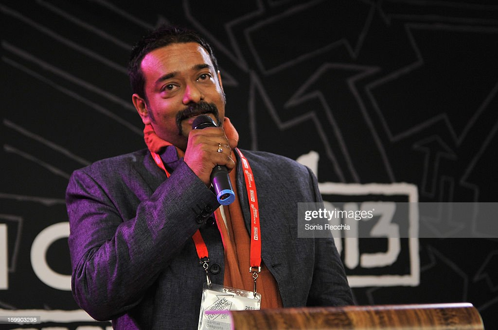 Director Sarthak Dasgupta speaks onstage during the Sundance Institute Mahindra Global Filmmaking Award Reception at Sundance House on January 22, 2013 in Park City, Utah.