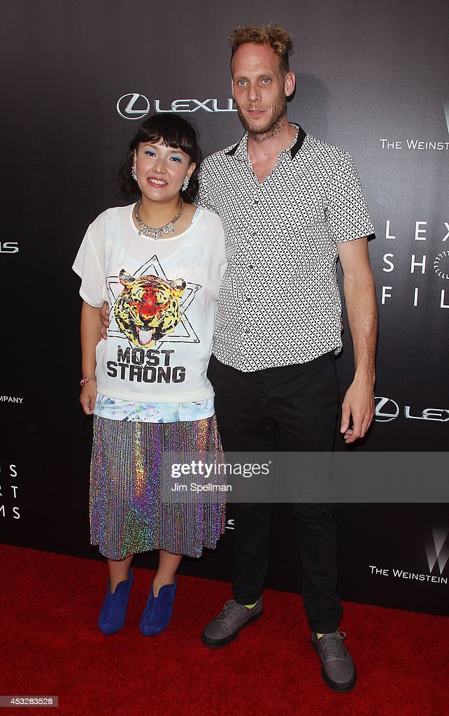 Director Satsuki Okawa and husband attend the 'Life is Amazing' Lexus Short Films Series at SVA Theater on August 6, 2014 in New York City.