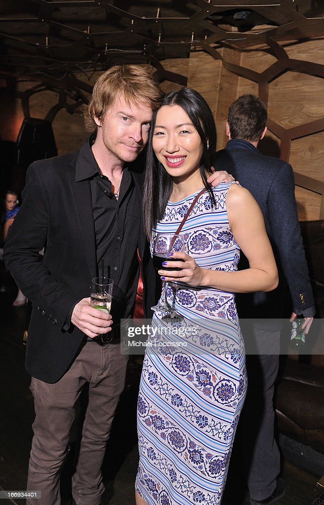 Director <a gi-track='captionPersonalityLinkClicked' href=/galleries/search?phrase=Scott+Coffey&family=editorial&specificpeople=243153 ng-click='$event.stopPropagation()'>Scott Coffey</a> (L) and actress Jo Mei attend the 'Adult World' premiere after party during the 2013 Tribeca Film Festival at Darby Downstairs on April 18, 2013 in New York City.