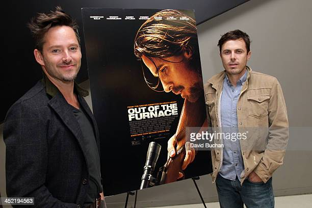 Director Scott Cooper and Actor Casey Affleck attend TheWrap's Awards Foreign Screening Series 'Out of the Furnace' at the Landmark Theater on...
