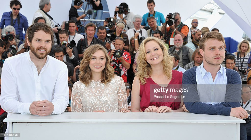 Director Sean Durkin, actors Elizabeth Olsen, Louisa Krause and Brady Corbet, Louisa Krause attend the 'Martha Marcy May Marlene' photocall at the Palais des Festivals during 64th Cannes Film Festival on May 15, 2011 in Cannes, France.
