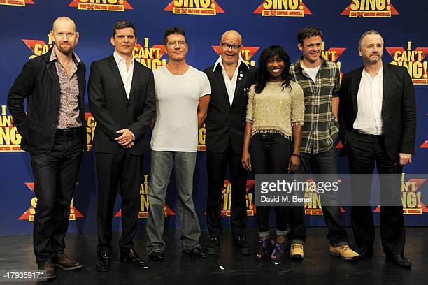 Director Sean Foley cast member Nigel Harman Simon Cowell writer Harry Hill cast members Cynthia Erivo and Alan Morrissey and writer Steve Brown...