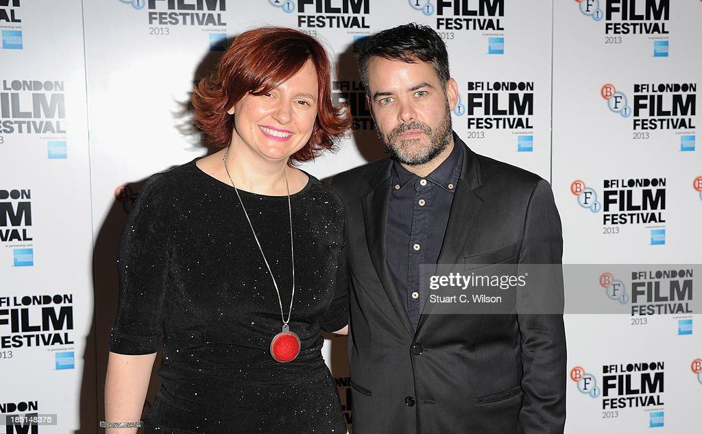 Director Sebastian Lelio and Clare Stewart attend a screening of 'Gloria' during the 57th BFI London Film Festival at Odeon West End on October 17...