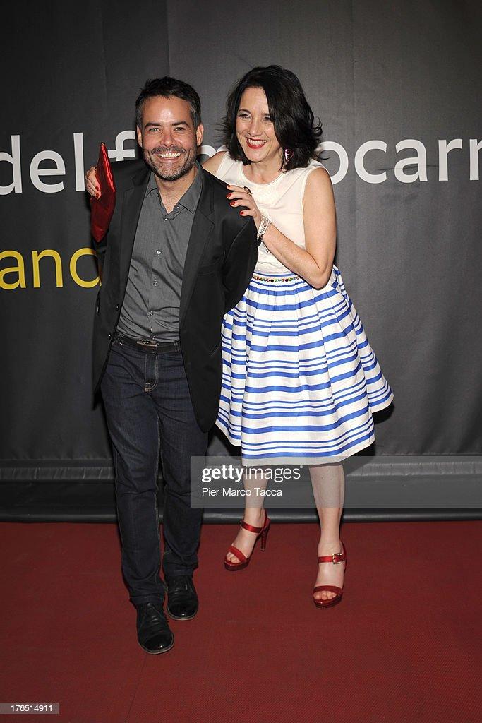 Director Sebastian Lelio and Paulina Garcia attend a photocall during the 66th Locarno Film Festival on August 14 2013 in Locarno Switzerland