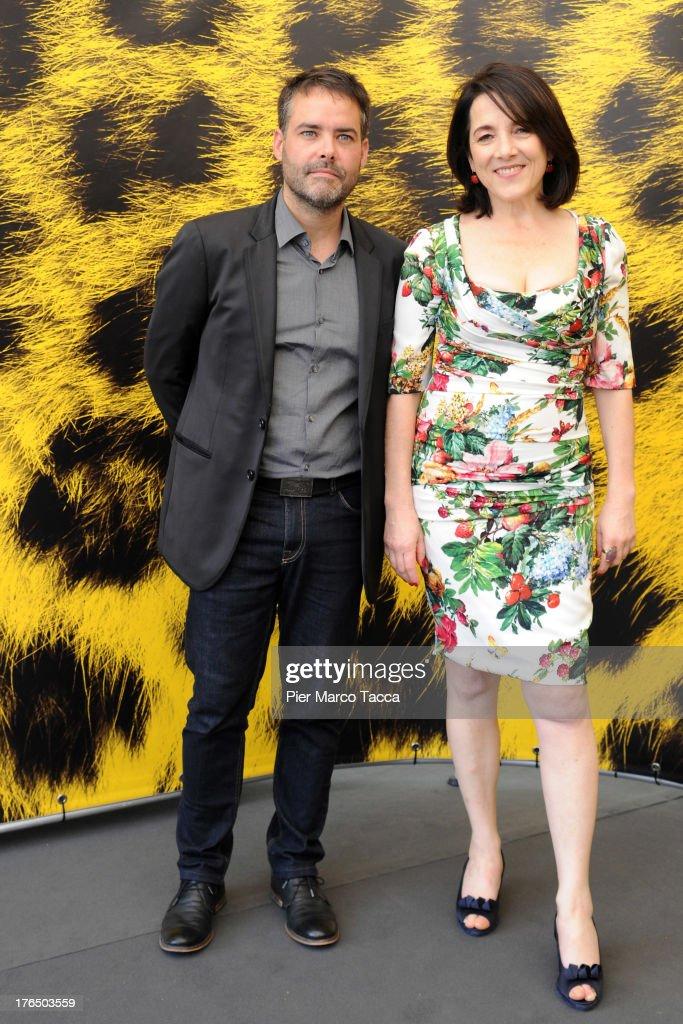 Director Sebastian Lelio and Paulina Garcia attend 'Gloria' photocall during the 66th Locarno Film Festival on August 14 2013 in Locarno Switzerland