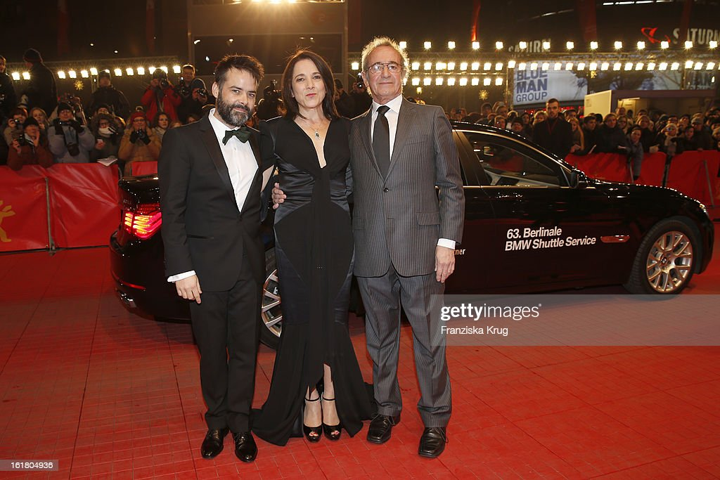 director Sebastian Lelio, winner of the Silver Bear for the best actress Paulina Garcia and actor Sergio Hendandez attend the Closing Ceremony Red Carpet Arrivals - BMW At The 63rd Berlinale International Film Festival at Berlinale-Palast on February 16, 2013 in Berlin, Germany.