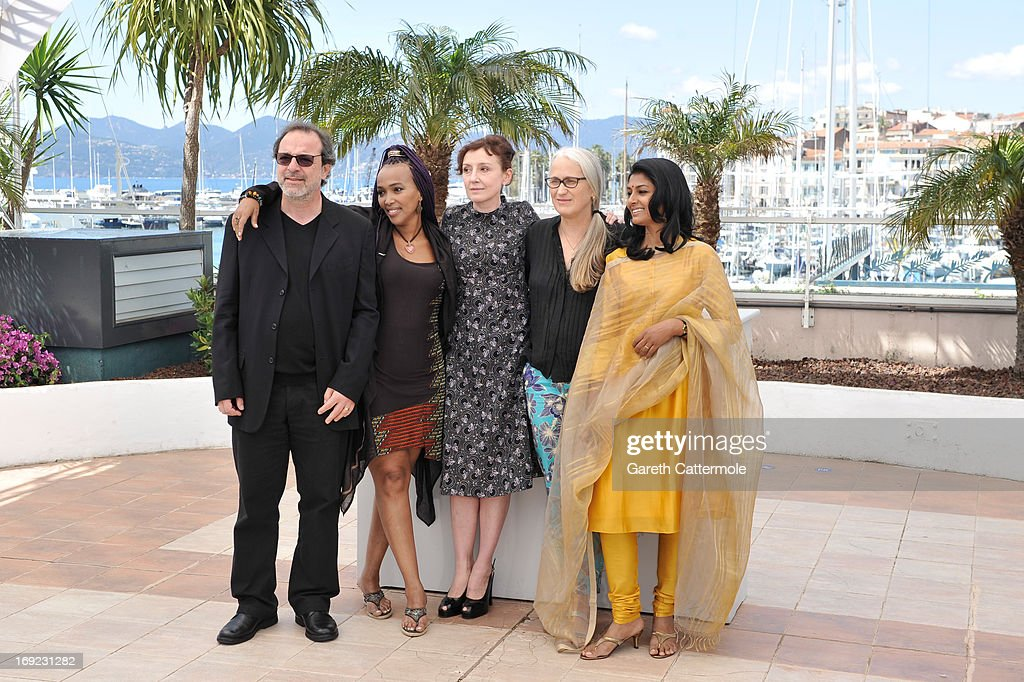 Director Semih Kaplanoglu, director Maji-da Abdi, actress Nicoletta Brasch, director Jane Campion and actress Nandita Das attend the 'Jury Cinefondation' Photocall during the 66th Annual Cannes Film Festival on May 22, 2013 in Cannes, France.