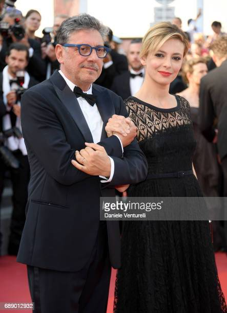 Director Sergio Castellitto and actress Jasmine Trinca attend the 'Based On A True Story' screening during the 70th annual Cannes Film Festival at...