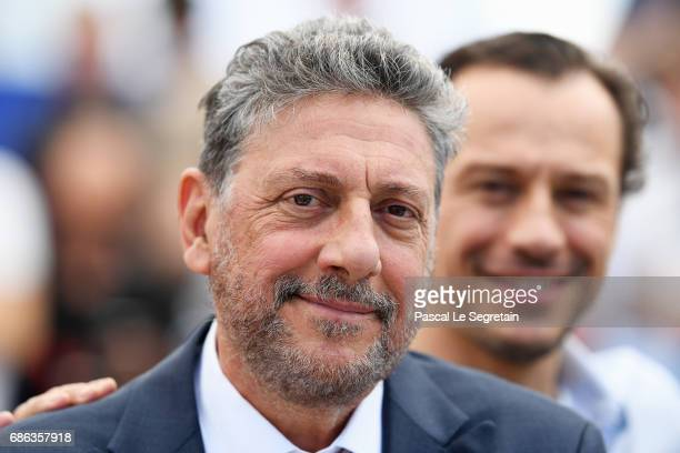 Director Sergio Castellitto and Stefano Accorsi attend the 'Fortunata' photocall during the 70th annual Cannes Film Festival at Palais des Festivals...