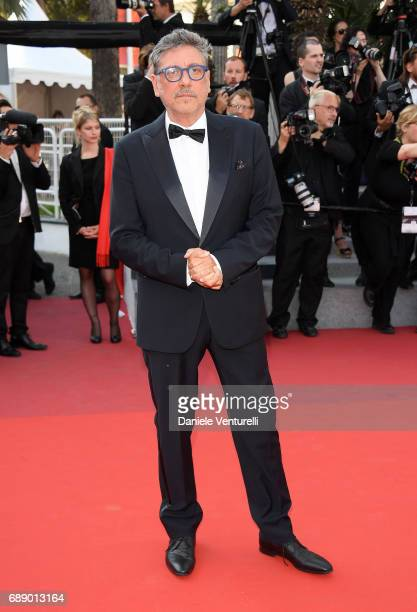 Director Sergio Castellitto attends the 'Based On A True Story' screening during the 70th annual Cannes Film Festival at Palais des Festivals on May...