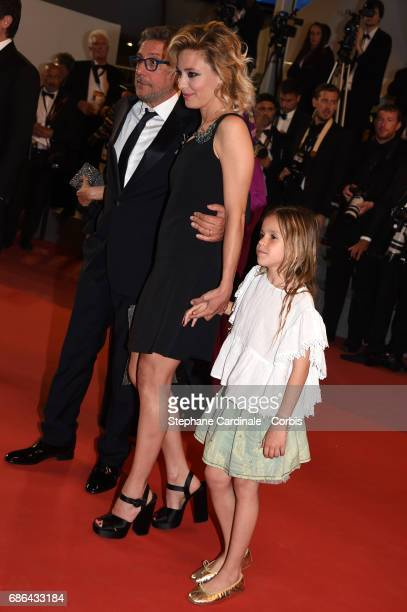 Director Sergio Castellitto Jasmine Trinca and Nicole Centanni of ' 'Fortunata' attend the 'Redoubtable ' screening during the 70th annual Cannes...