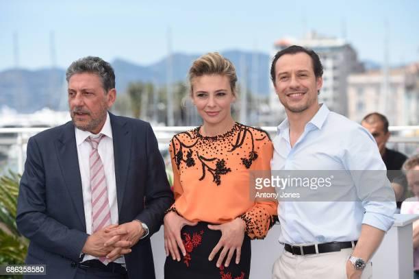 Director Sergio Castellitto Jasmine Trinca Stefano Accorsi attend the 'Fortunata' photocall during the 70th annual Cannes Film Festival at Palais des...