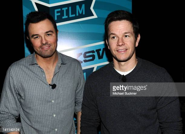 Director Seth MacFarlane and actor Mark Wahlberg attend 'A Conversation with Seth MacFarlane' Panel during the 2012 SXSW Music Film Interactive...