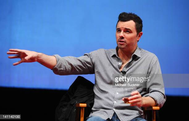 Director Seth MacFarlane attends 'A Conversation with Seth MacFarlane' Panel during the 2012 SXSW Music Film Interactive Festival at Austin...