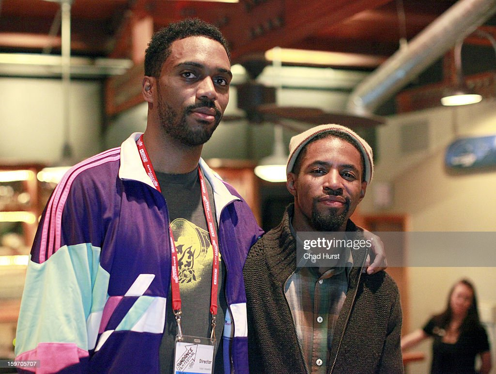 Director Shaka King (L) and actor Amari Cheatom attend 'Newlyweeds' Party at Wasatch Brew Pub on January 18, 2013 in Park City, Utah.