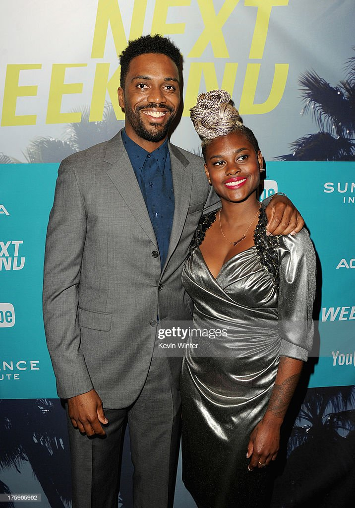 Director Shaka King and costume designer Charlese Antoinette Jones attend 'Newlyweeds' premiere during NEXT WEEKEND, presented by Sundance Institute at Sundance Sunset Cinema on August 10, 2013 in Los Angeles, California.