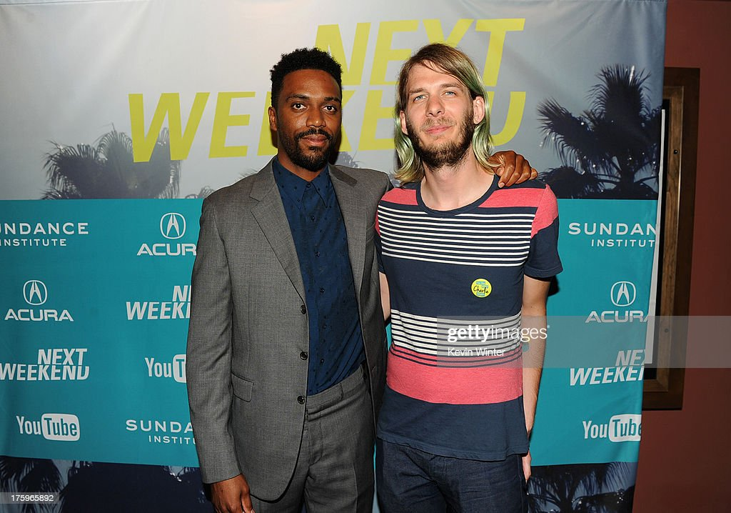 Director Shaka King and Sundance Film Festival Programmer Charlie Reff attend 'Newlyweeds' premiere during NEXT WEEKEND, presented by Sundance Institute at Sundance Sunset Cinema on August 10, 2013 in Los Angeles, California.