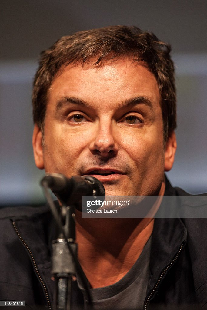 Director <a gi-track='captionPersonalityLinkClicked' href=/galleries/search?phrase=Shane+Black&family=editorial&specificpeople=810591 ng-click='$event.stopPropagation()'>Shane Black</a> attends the 'Iron Man 3' panel at San Diego Convention Center on July 14, 2012 in San Diego, California.
