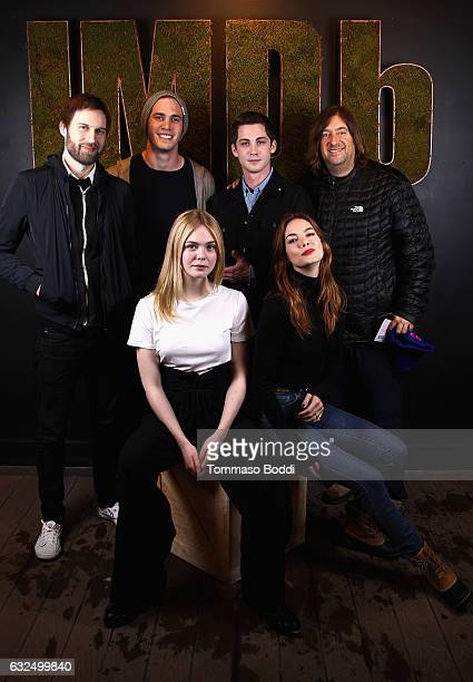 Director Shawn Christensen actors Blake Jenner Logan Lerman and producer Jonathan Schwartz actors Elle Fanning and Michelle Monaghan of 'Sidney Hall'...