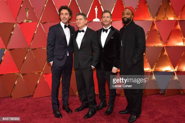 Director Shawn Levy producer Dan Levine producer Aaron Ryder and cameraman Bradford Young attend the 89th Annual Academy Awards at Hollywood Highland...