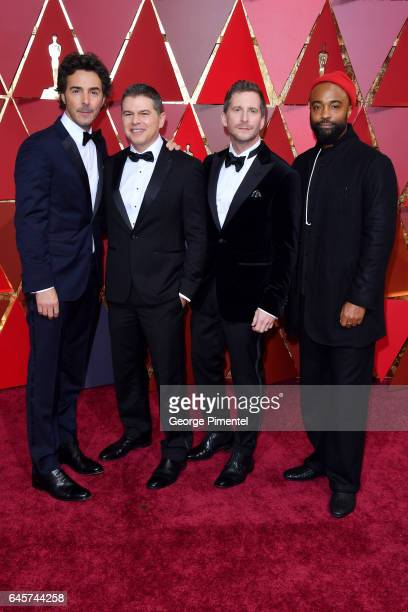 Director Shawn Levy producer Dan Levine producer Aaron Ryder and cameraman Bradford Young attends the 89th Annual Academy Awards at Hollywood...