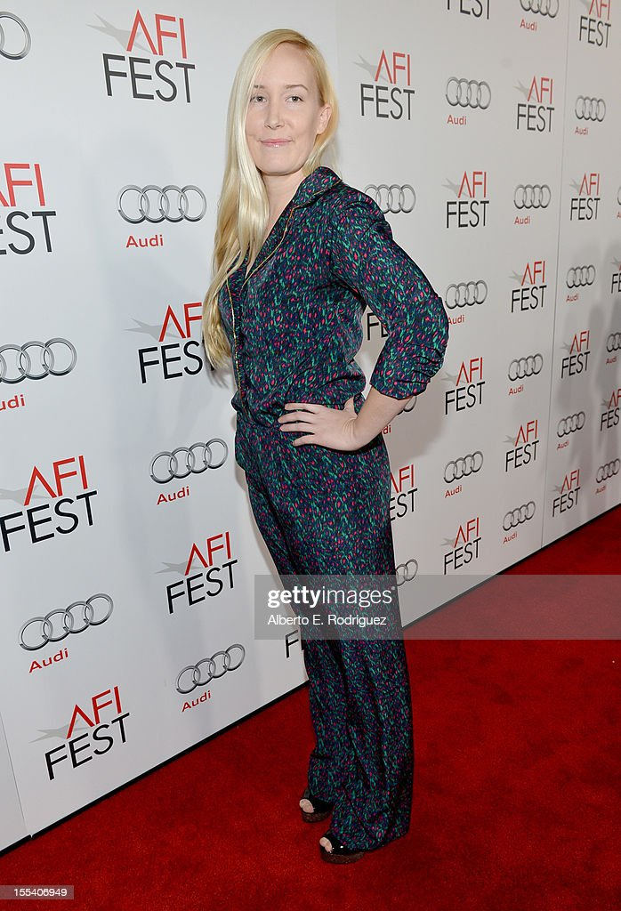 Director Sheena McCann arrives at the 'Holy Motors' special screening during the 2012 AFI Fest at Grauman's Chinese Theatre on November 3, 2012 in Hollywood, California.
