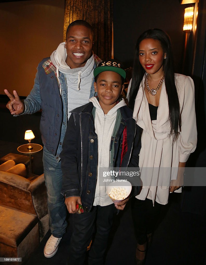 Director Sheldon Candis, actor Michael Rainey Jr. and <a gi-track='captionPersonalityLinkClicked' href=/galleries/search?phrase=Angela+Simmons&family=editorial&specificpeople=653461 ng-click='$event.stopPropagation()'>Angela Simmons</a> attend the 'LUV' Tastemaker Screening at Soho House on January 8, 2013 in New York City.