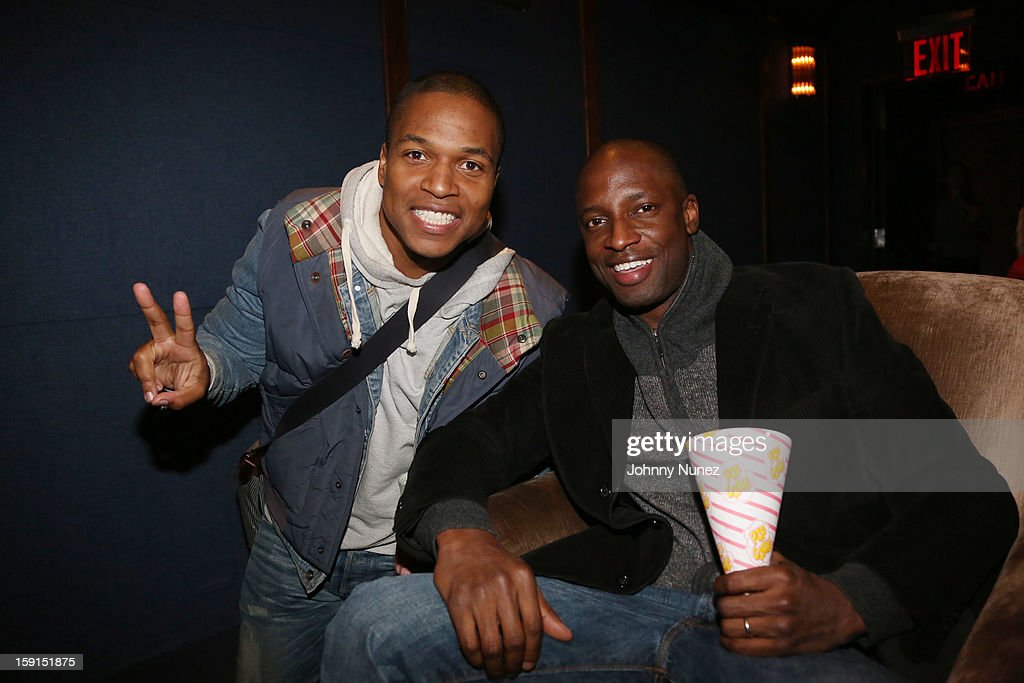Director Sheldon Candis and actor Walter Simpson III attend the 'LUV' Tastemaker Screening at Soho House on January 8, 2013 in New York City.