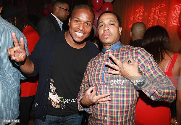 Director Sheldon Candis and photographer Johnny Nunez attends DJ Kiss' Birthday Party at Mister H on April 10 2013 in New York City
