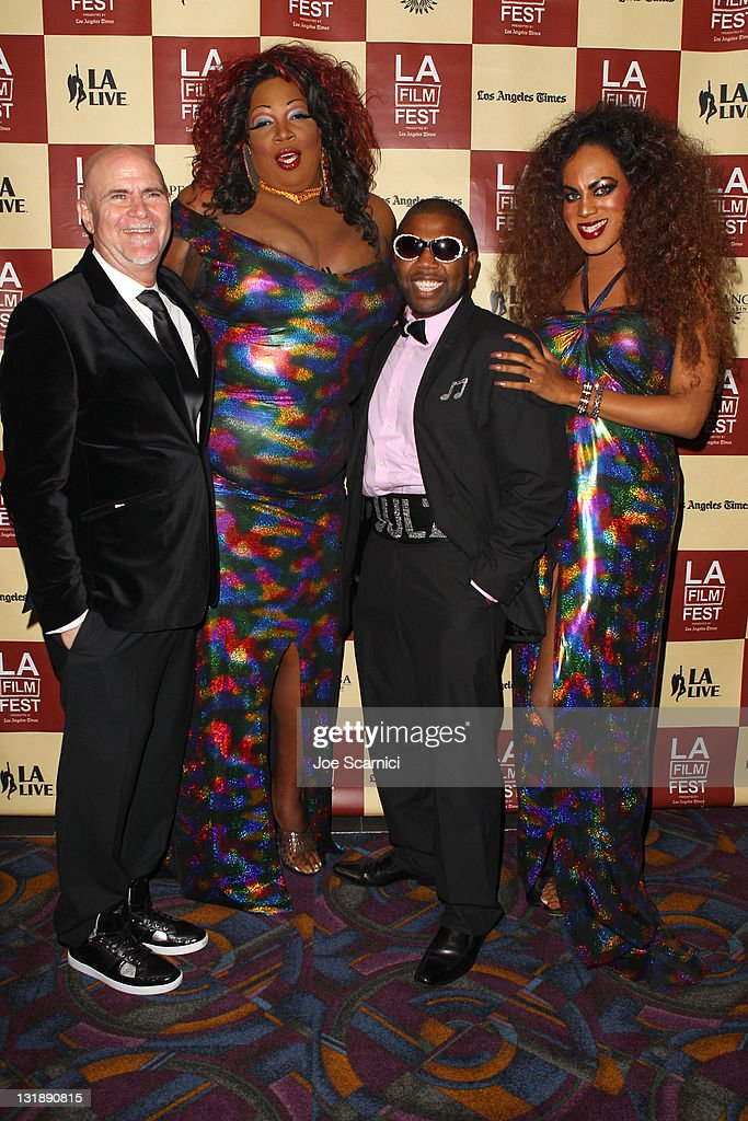 Director Sheldon Larry, actor Lady Red Couture, DJ Fatha Julz and Roxy Wood attend the 'Leave It On The Floor' Q & A during the 2011 Los Angeles Film Festival held at the Regal Cinemas L.A. LIVE on June 18, 2011 in Los Angeles, California.