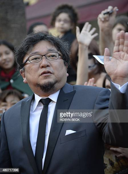 Director Shinji Higuchi arrives for the world premiere of 'Attack On Titan' a live action feature film based on the Japanese dark fantasy manga...