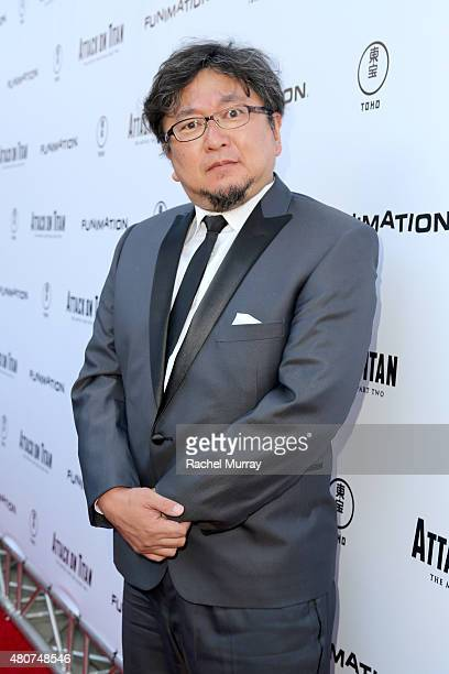 Director Shinji Higuchi attends the 'ATTACK ON TITAN' World Premiere on July 14 2015 in Hollywood California