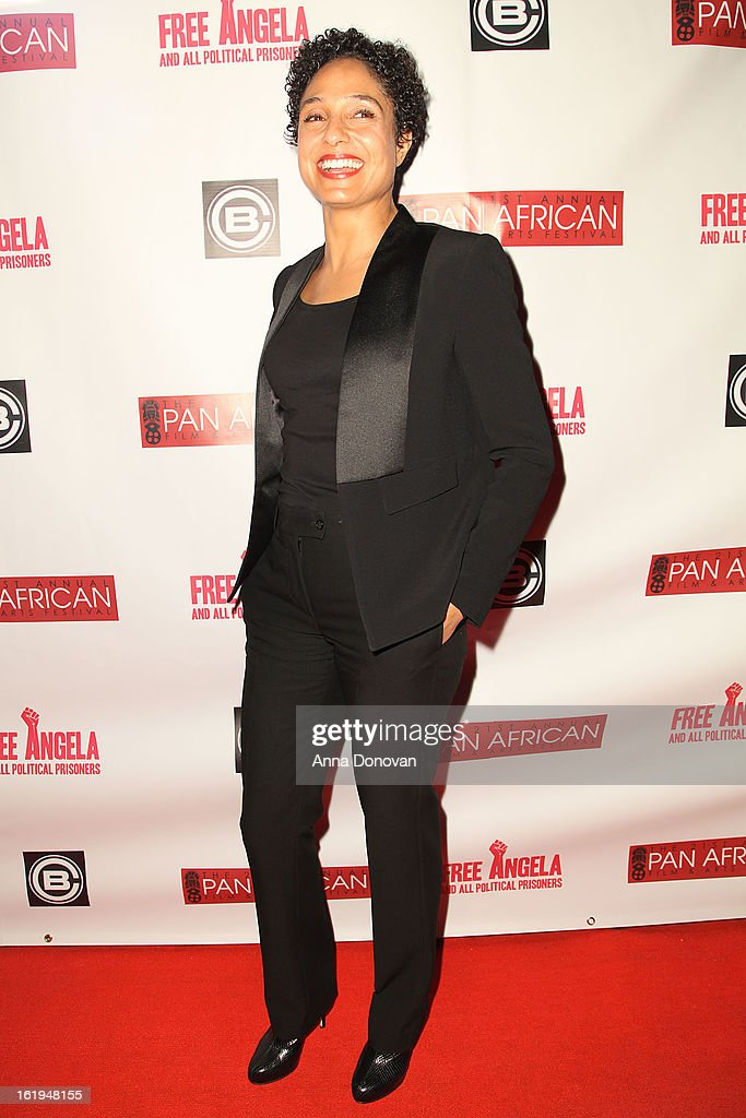 Director Shola Lynch attends the closing night at the Pan African film festival 'Free Angela And All Political Prisoners' at Rave Cinemas on February 17, 2013 in Los Angeles, California.