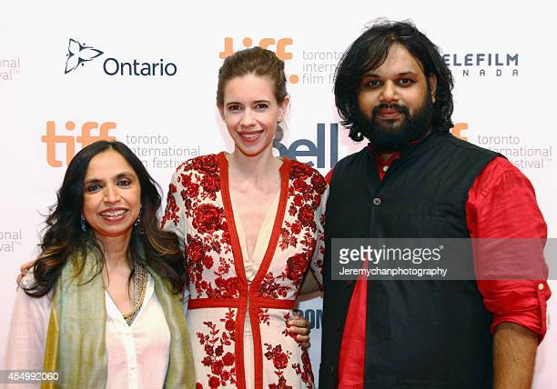 Director Shonali Bose actress Kalki Koechlin and codirector/producer Nilesh Maniyar attend the 'Margarita With A Straw' premiere during the 2014...