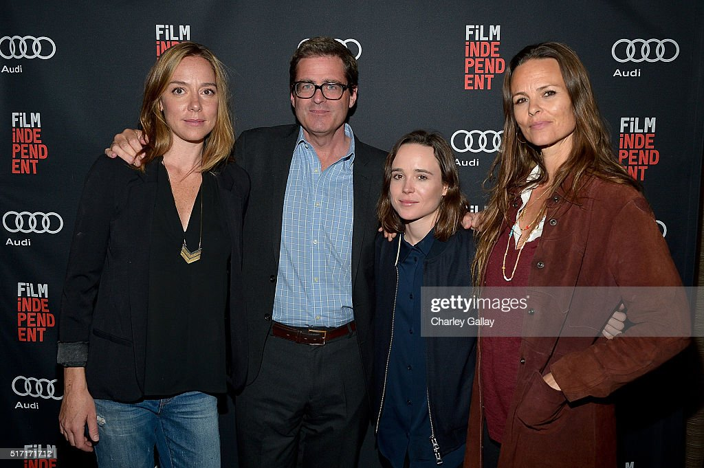 Director Sian Heder Film Independent President Josh Welsh actress Ellen Page and producer Heather Rae attend an exclusive screening of 'Tallulah'...