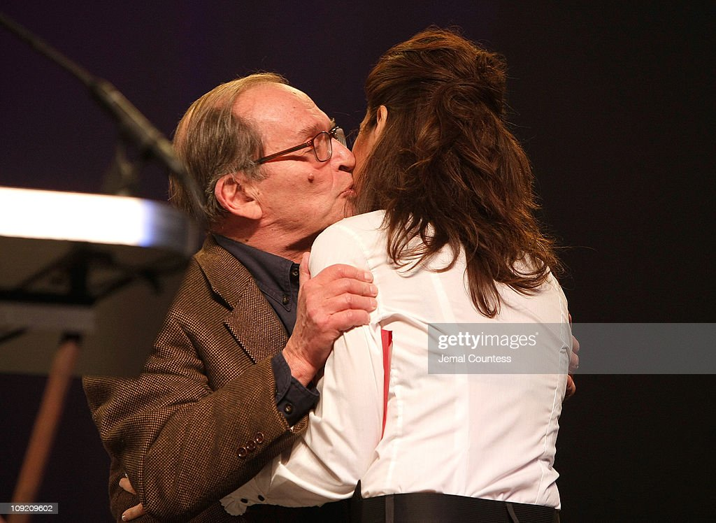 Director Sidney Lumet and actress Marisa Tomei onstage during the 17th Annual Gotham Awards presented by IFP at Steiner Studios on November 27, 2007 in Brooklyn, NY.