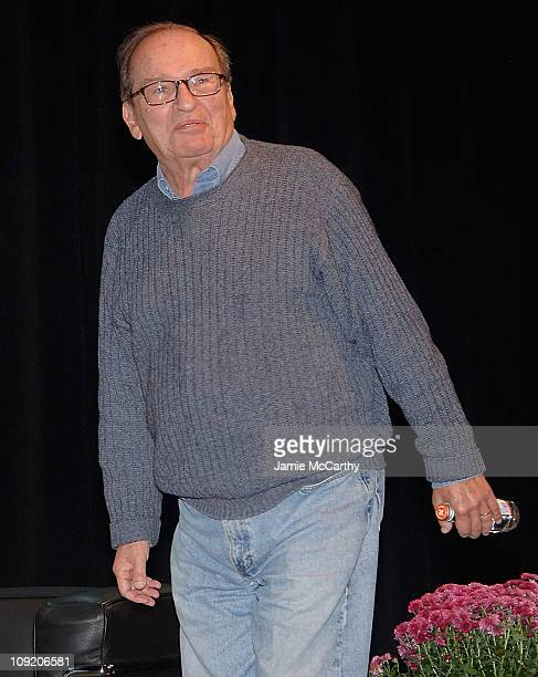 Director Sidney Lumet attends the Hamptons Film Festival Conversation with Sidney Lumet interviewed by Adam Green on October 19 2007 at the Bay...
