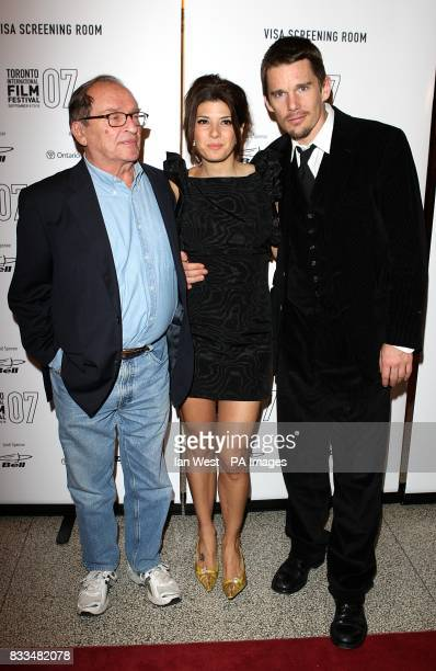 Director Sidney Lumet Marisa Tomei and Etham Hawke arrive for the premiere of Before The Devil Knows You're Dead at the Toronto International Film...