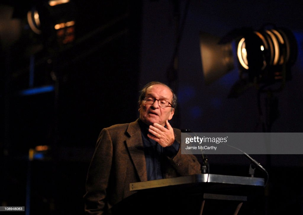 Director Sidney Lumet onstage during the 17th Annual Gotham Awards presented by IFP at Steiner Studios on November 27 2007 in Brooklyn NY