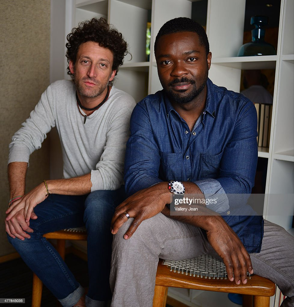 Director Simon Brand and actor <a gi-track='captionPersonalityLinkClicked' href=/galleries/search?phrase=David+Oyelowo&family=editorial&specificpeople=633075 ng-click='$event.stopPropagation()'>David Oyelowo</a> pose for a portrait session promoting they new film 'Default' during the Miami International Film Festival 2014 at The Standard on March 10, 2014 in Miami Beach, Florida.